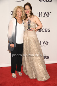 """Carole King with Jesse Mueller (from """"Beautiful"""") wins Best Performance by an actress in a Leading Role in a Musical  photo by Rob Rich/SocietyAllure.com © 2014 robwayne1@aol.com 516-676-3939"""