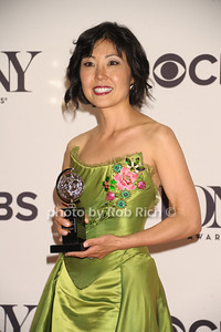 """Lindo Cho wins for Best Costume Design of a Musical for """"A Gentleman's Guide to Love & Murder"""" photo by Rob Rich/SocietyAllure.com © 2014 robwayne1@aol.com 516-676-3939"""