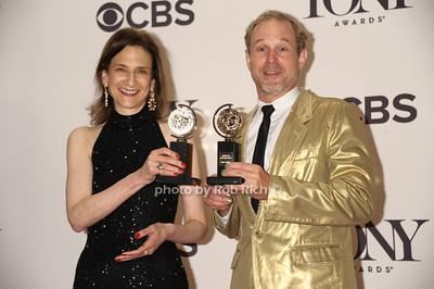 Natasha Katz (Best Lighting Design of a Play) and Kevin Adams (Best Lighting Design of a Musical) photo by Rob Rich/SocietyAllure.com © 2014 robwayne1@aol.com 516-676-3939