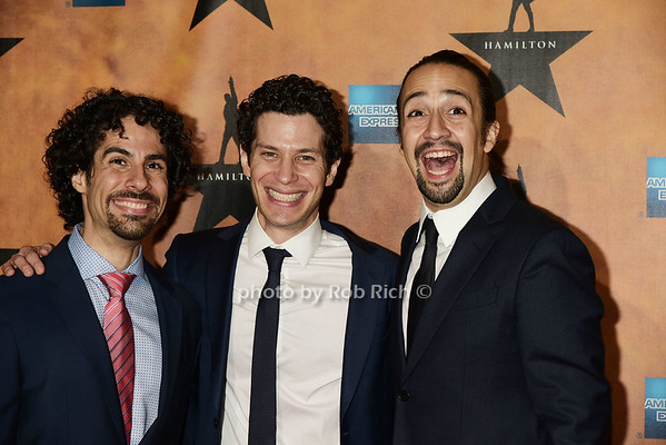 guest, Thomas Kail, Lin-Manuel Miranda<br />  <br /> photos by Rob Rich/SocietyAllure.com © 2015 robwayne1@aol.com 516-676-3939
