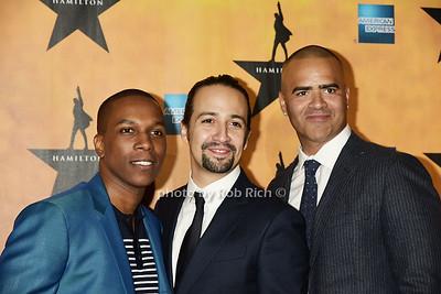 Leslie Odom, Jr., Lin-Manuel Miranda, and Christopher Jackson   photos by Rob Rich/SocietyAllure.com © 2015 robwayne1@aol.com 516-676-3939