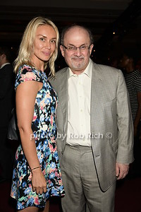 Irina Ovsiannikova and Salman Rushdie     photos by Rob Rich/SocietyAllure.com © 2015 robwayne1@aol.com 516-676-3939
