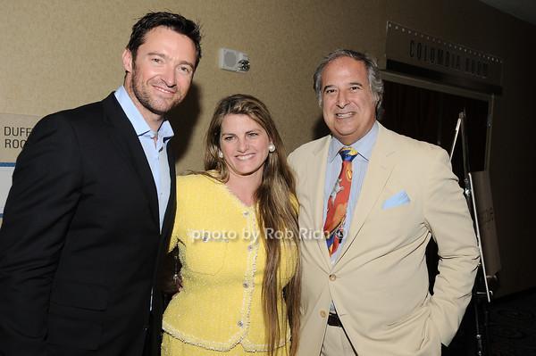 Hugh Jackman, Bonnie Comley, Stewart Lane<br /> all photos by Rob Rich © 2010 robwayne1@aol.com 516-676-3939