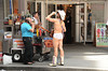 Naked Cowboy take a break