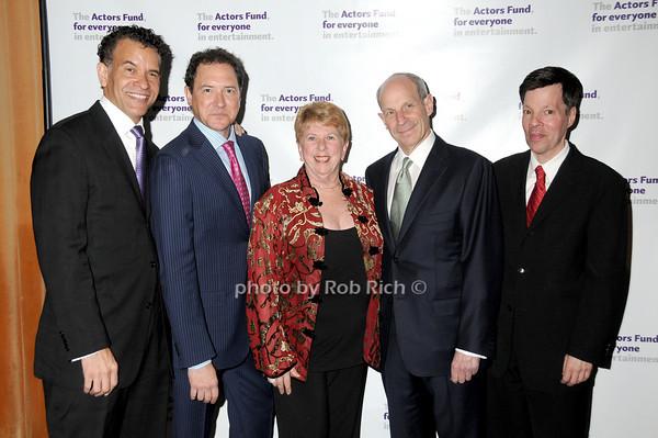 Brian Stokes Mitchell, Kevin McCollum, Abby Schroeder , Jonathan Tisch,Michael Kerker