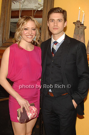 Jessica Collins and Aaron Tvelt