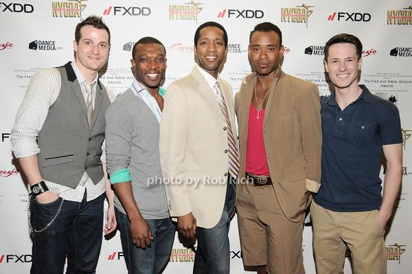 Bryan Fenkart, Tyrone A. Jackson, Jermaine Rembert, James Brown III, Cary Tedder photo by Rob Rich © 2010 robwayne1@aol.com 516-676-3939