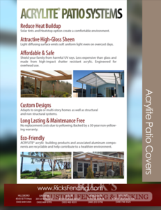 Rick's Acrylite Cover Brochure