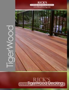 Rick's TigerWood Decking Brochure