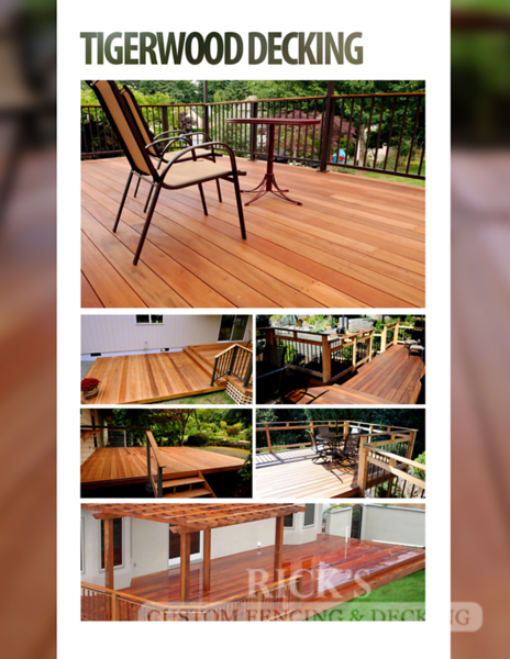 Rick's TigerWood Decking Brochure