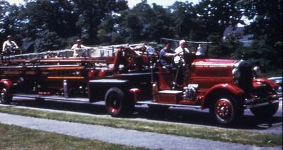 LADDER 2 1931 AHRENS FOX 85' TT. IN SERVICE UNTIL 1966
