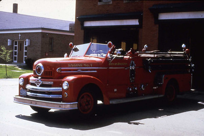 Engine 1, 1951 Seagrave 1000 gpm. Was in service until 1968 when the 1st Mack CF was purshased.