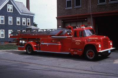 Ladder 3, 1964/1946 International/Seagrave. This trruck was built by the FD shops. The aerial came off the 1946 Seagrave. Last I knew this truck was in service somewhere in the state of Maine.