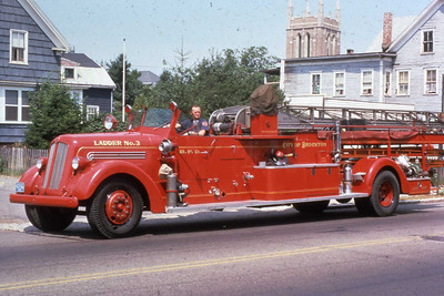 1946 Seagrave 75' aerial. This truck replaced a 1921 Seagrave city service truck and was used until 1967.