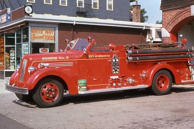 Engine 5, 1949 Seagrave 750 gpm