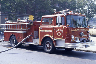 Engine 1 a 1968 Mack CF 1000 gpm. This was the first MAck purchased in the city. Currently still owned buy the city.