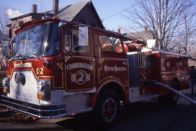 Combination 2 a 1981 Mack 1000 gpm, later became Engine 2 when they went to one piece engine com's. Now reserve Engine 8.