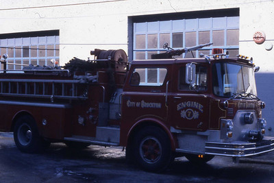 Engine 7, 1974 Mack 1000 gpm. was purchased for Engine 4 and came lettered as such, but was unable to fit in the station.