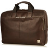 "Newbury Leather Zip Briefcase 15"" 155-256-BRN"