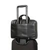Newbury Leather Zip Briefcase 155-256-BLK