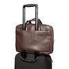 Newbury Leather Zip Briefcase 155-256-BRN