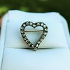 Victorian Rose Cut Witches Heart Pin 18
