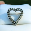 Victorian Rose Cut Witches Heart Pin 11