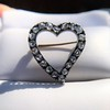 Victorian Rose Cut Witches Heart Pin 8