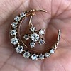 1.40ctw Victorian Rose Gold Crescent and Star Ray Brooch/Pendant 14