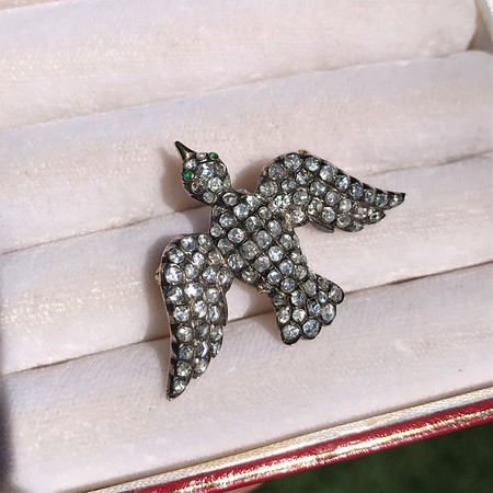 1.80ctw 'Bird in Flight' Pave Brooch