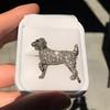 1.85ctw Art Deco Dog Brooch 1