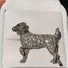 1.85ctw Art Deco Dog Brooch 9