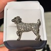 1.85ctw Art Deco Dog Brooch 7