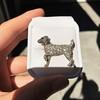 1.85ctw Art Deco Dog Brooch 10