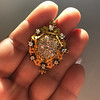 1.90ctw Antique Victorian Cobblestone Brooch 6