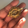 1.90ctw Antique Victorian Cobblestone Brooch 7