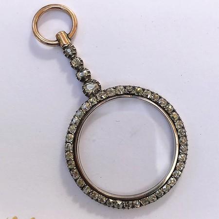 2.10ctw Victorian Monocle Pendant