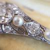2.62ctw Edwardian Diamond & Pearl Brooch 18