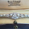 2.62ctw Edwardian Diamond & Pearl Brooch 10