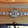 2.62ctw Edwardian Diamond & Pearl Brooch 6