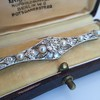 2.62ctw Edwardian Diamond & Pearl Brooch 13