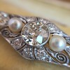2.62ctw Edwardian Diamond & Pearl Brooch 17