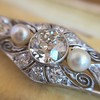 2.62ctw Edwardian Diamond & Pearl Brooch 16