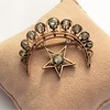 2.75ctw Victorian Crescent and Star Brooch 22