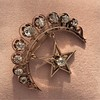 2.75ctw Victorian Crescent and Star Brooch 20