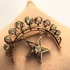 2.75ctw Victorian Crescent and Star Brooch 8