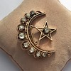 2.75ctw Victorian Crescent and Star Brooch 10