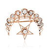 2.75ctw Victorian Crescent and Star Brooch 0