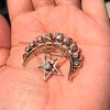 2.75ctw Victorian Crescent and Star Brooch 29