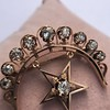 2.75ctw Victorian Crescent and Star Brooch 27